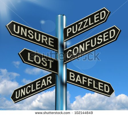 stock-photo-puzzled-confused-lost-signpost-shows-puzzling-problem-102144649